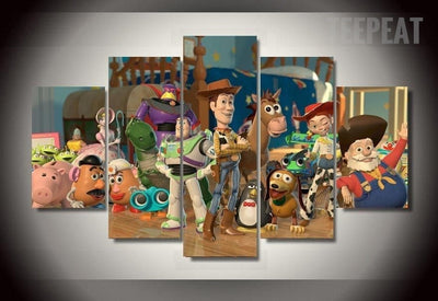 Toy Story Room Painting - 5 Piece Canvas-Canvas-TEEPEAT