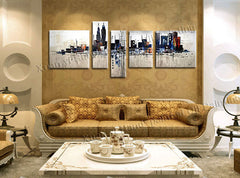 New York City Buildings - 5 Piece Canvas