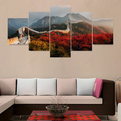 World's Wonder Great Wall Of China - 5 Piece Canvas-Canvas-TEEPEAT