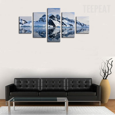 Nature Glacier Scenery - 5 Piece Canvas-Canvas-TEEPEAT