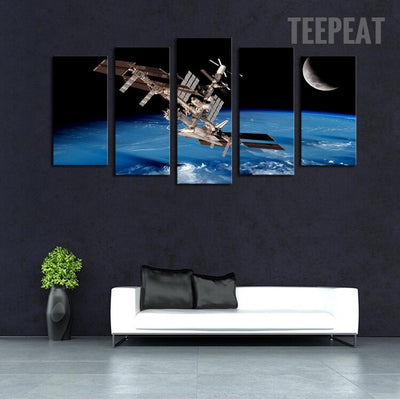 Satellite Space Landscape View - 5 Piece Canvas-Canvas-TEEPEAT