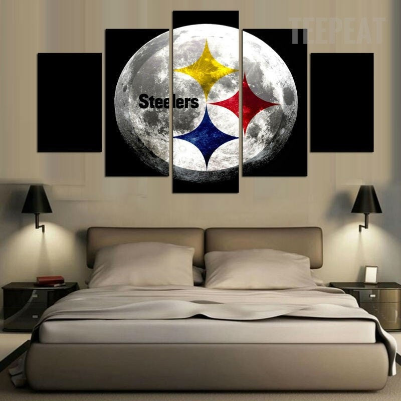 Pittsburgh Steelers Football Team - 5 Piece Canvas-Canvas-TEEPEAT