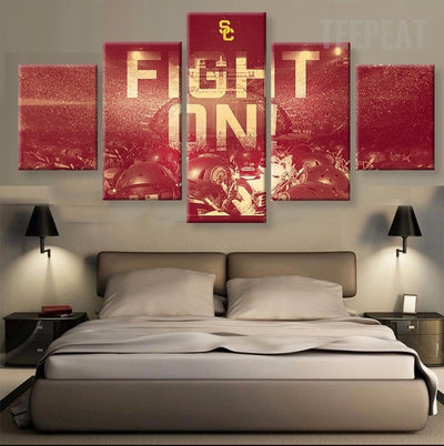 USC Trojans Sports Team Fans - 5 Piece Canvas Painting-Canvas-TEEPEAT