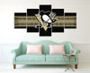 Pittsburgh Penguins Sports Logo - 5 Piece Canvas-Canvas-TEEPEAT