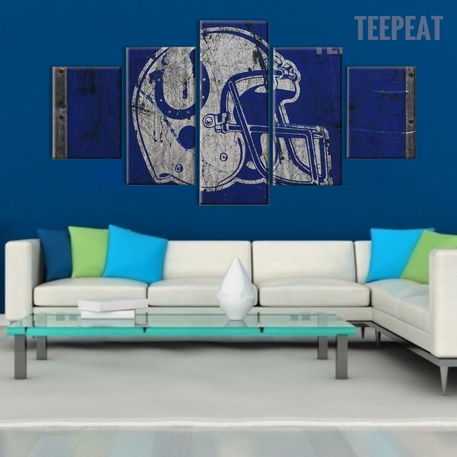 Indianapolis Colts Sports Team - 5 Piece Canvas