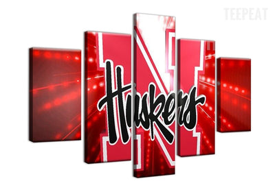 Nebraska Cornhuskers Sports Team - 5 Piece Canvas