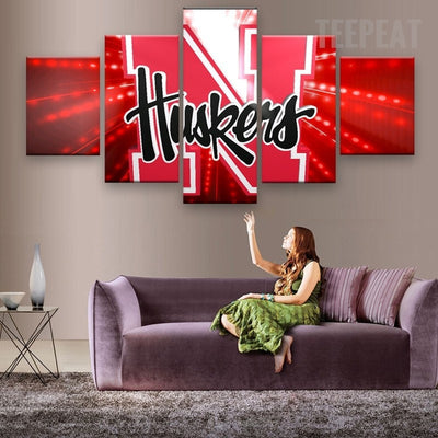 Nebraska Cornhuskers Sports Team - 5 Piece Canvas-Canvas-TEEPEAT