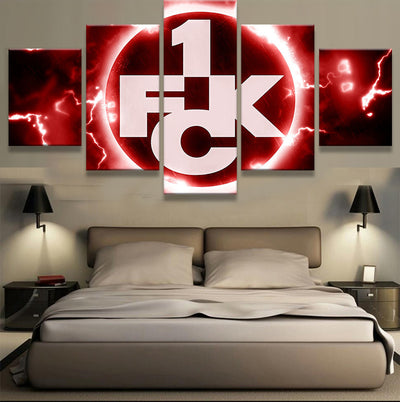 FC Kaiserslautern Sports Team - 5 Piece Canvas-Canvas-TEEPEAT