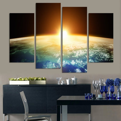 Sun In The Universe Painting - 4 Piece Canvas