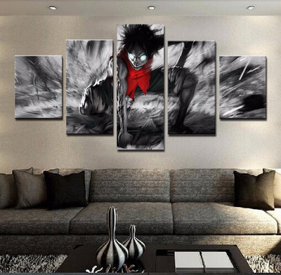 One Piece : Luffy 2nd Gear - 5 piece canvas