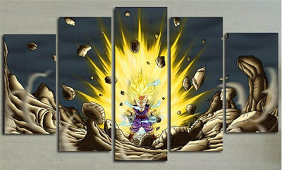 Dragon Ball Z: Gohan Super Saiyan - 5 Piece Painting