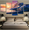 Beautiful Scenery: Ocean Waves - 5 Piece Canvas Painting