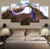 Dragon Ball: Vegeta Super Sayian - 5 Piece Canvas Painting