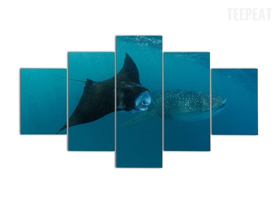 Underwater Best Buds - 5 piece canvas