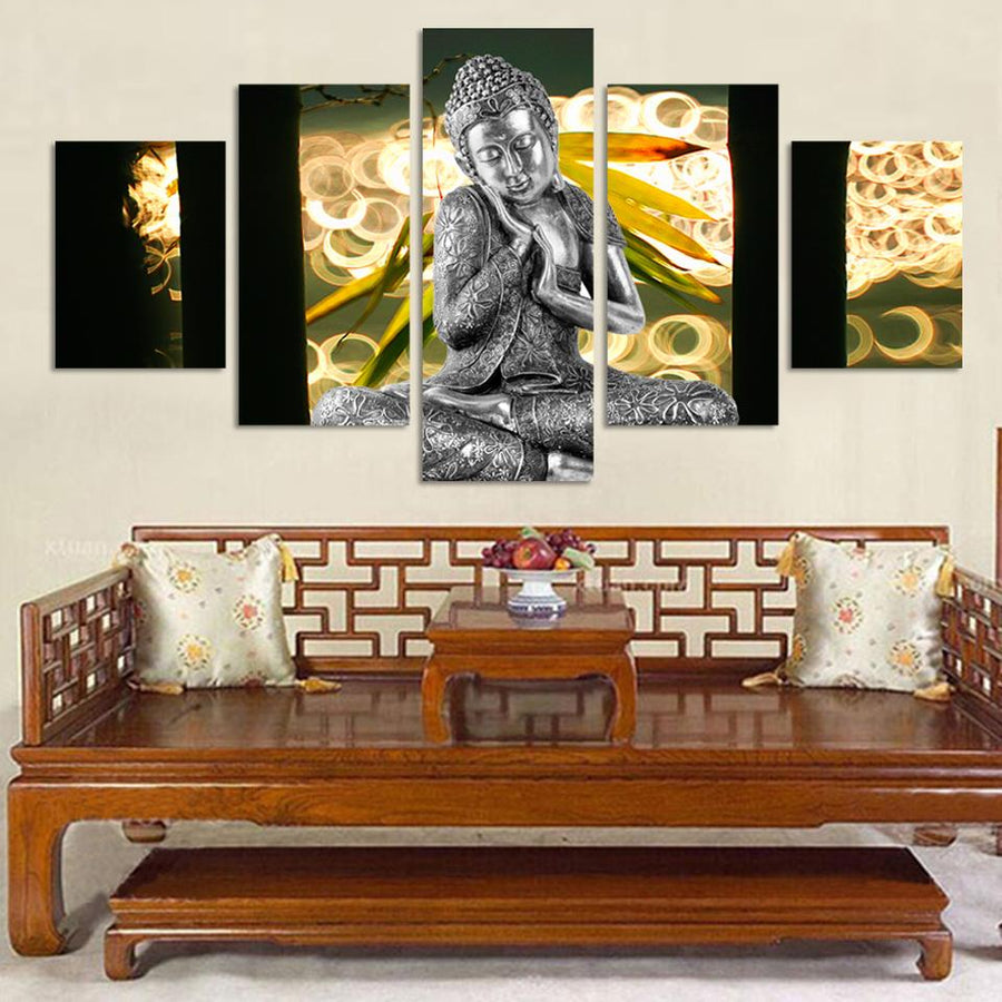 5 Piece Buddha Canvas Painting