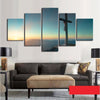 The Cross - 5 Piece Canvas Painting