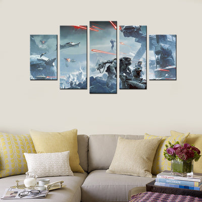 Battlefield - 5 Piece Canvas Painting
