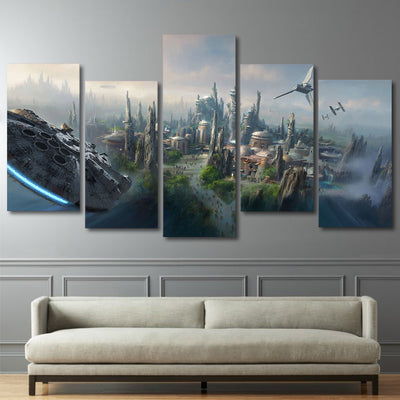 Star Wars: Battleground - 5 Piece Canvas Painting