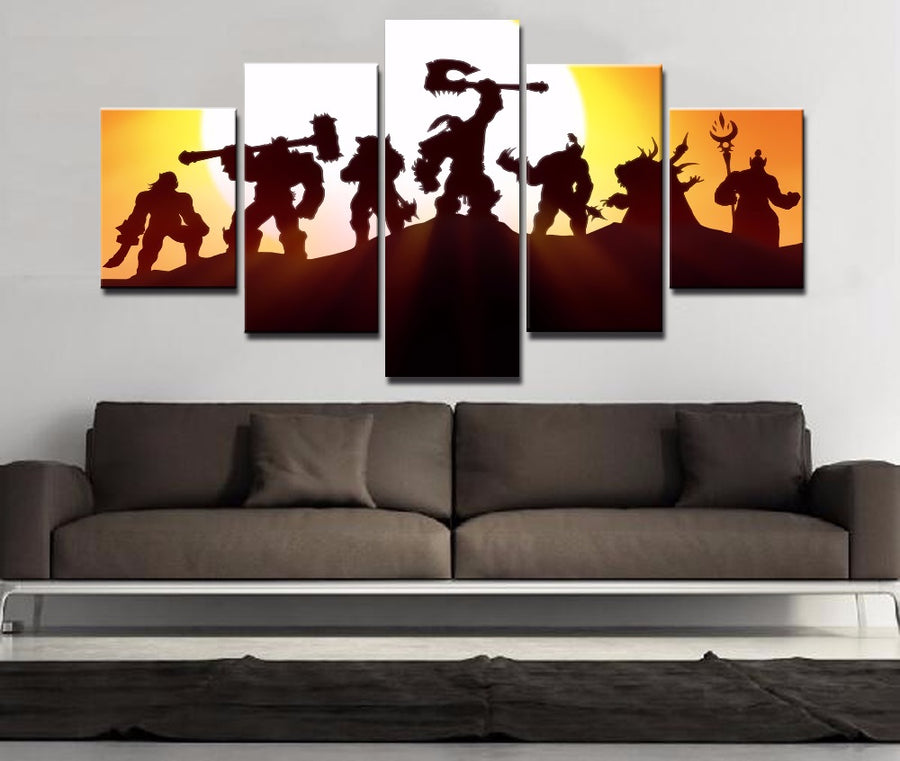Warcraft - 5 Piece Canvas Painting