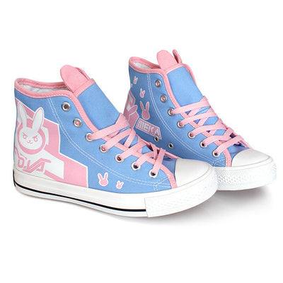 Overwatch D.VA Custom Sneakers