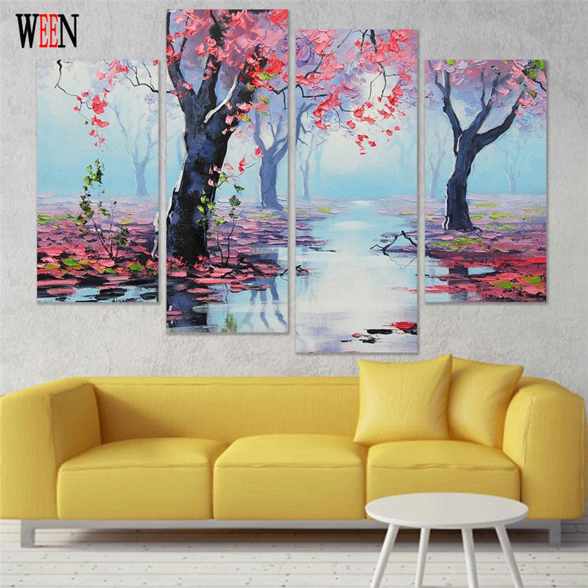 Ween Water Tree - 5 Piece Canvas Painting
