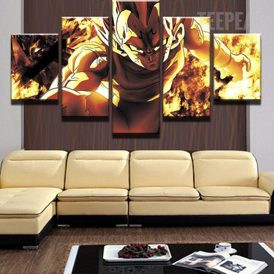 Vegeta: The Prince of Sayan - 5 Piece Painting