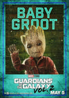 GROOT:  Guardians of The Galaxy Vol.2 Silk Poster