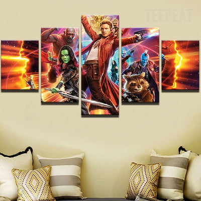 Guardians of the Galaxy- 5 Piece Painting
