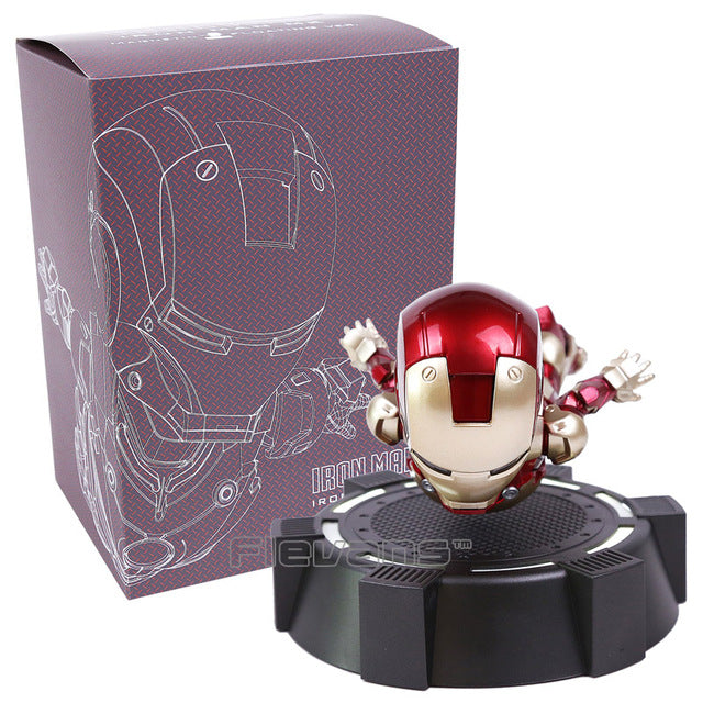 Iron Man Floating Action Figure with LED Light
