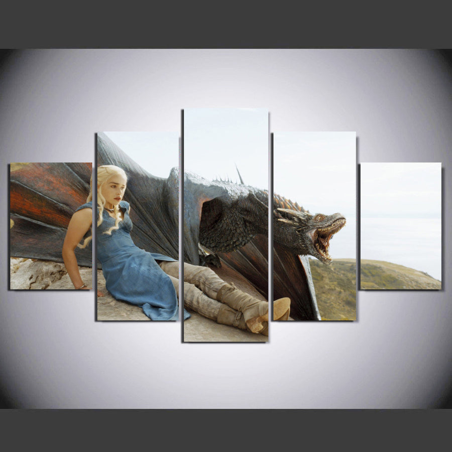 Khaleesi: Mother of Dragons - 5 Piece Painting