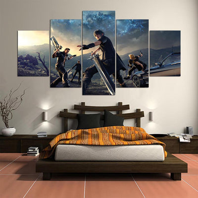 5 Piece Final Fantasy XV Canvas Painting