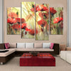 Pretty Flower - 4 Piece Canvas Painting