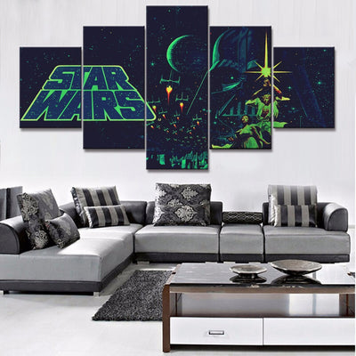 Star Wars Classic Poster in 5 Piece Painting