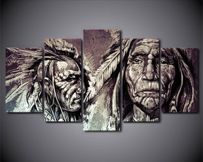 American Indian - 5 Piece Painting