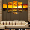 Scenery: Seascape Sunset - 5 Piece Painting