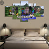 MINECRAFT Game Poster - 5 Piece Canvas Painting