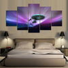 Star Trek in Blazing Night Sky- 5 Piece Painting