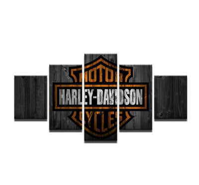 The Great Harley-Davidson - 5 Piece Painting
