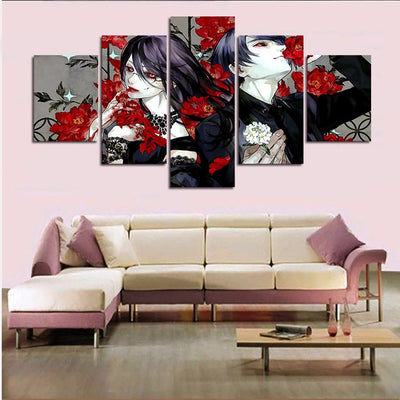 Bloody Anime Character - 5 Piece Painting