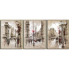 Abstract City Road Scenery - 3 Piece Painting