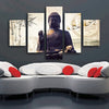 Lifestyle Buddha - 5 Piece Painting