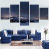 Starry Night and Snow Mountain - 5 Piece Painting