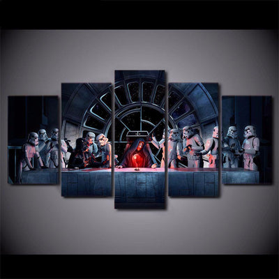 Star Wars The Dark Side Last Supper - 5 Piece Painting
