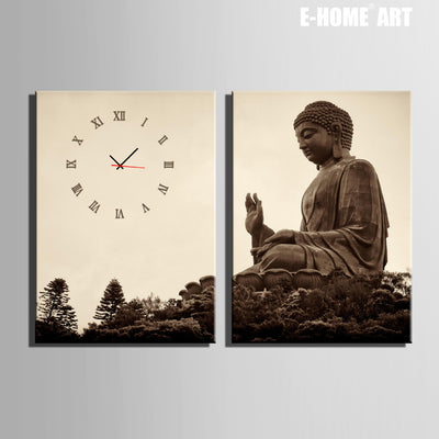 Giant Buddha Clock in Canvas 2pcs wall clock-TEEPEAT