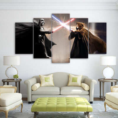 Star Wars: Obi-Wan Kenobi VS Darth Vader - 5 Piece Painting