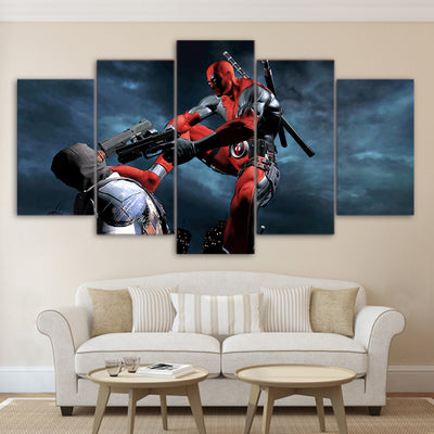 Deadpool - 5 Piece Painting