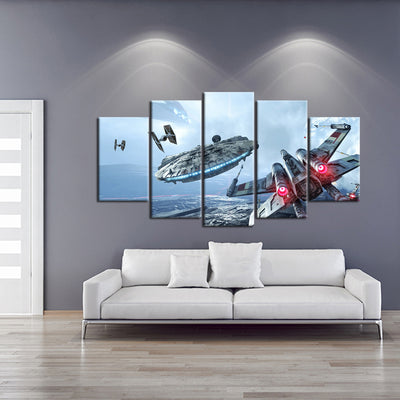 Star Wars: Battlefront Fighter Jets - 5 Piece Painting