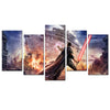 Star Wars: Jedi Holding a Lightsaber - 5 Piece   Painting