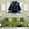 Black and White Star Wars Painting: Darth Vader - 5 Piece