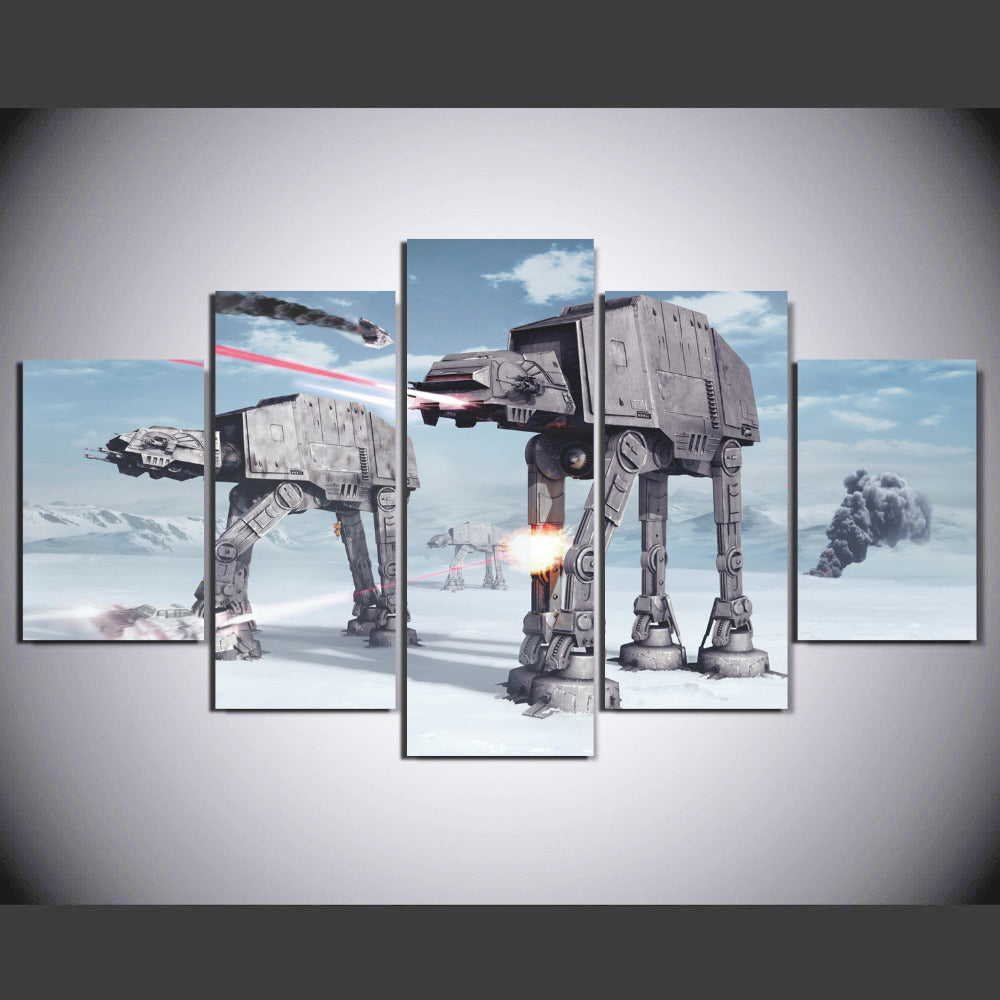 Canvas Painting 5 Pieces Star Wars Robot Dog Canvas Printed Poster